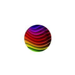 Spectrum Rainbow Background Surface Stripes Texture Waves 1  Mini Buttons by Simbadda