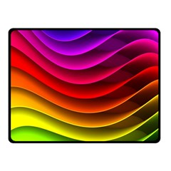 Spectrum Rainbow Background Surface Stripes Texture Waves Fleece Blanket (small) by Simbadda