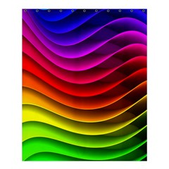 Spectrum Rainbow Background Surface Stripes Texture Waves Shower Curtain 60  X 72  (medium)  by Simbadda