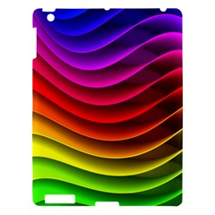 Spectrum Rainbow Background Surface Stripes Texture Waves Apple Ipad 3/4 Hardshell Case by Simbadda