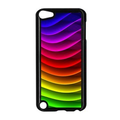 Spectrum Rainbow Background Surface Stripes Texture Waves Apple Ipod Touch 5 Case (black) by Simbadda