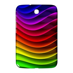 Spectrum Rainbow Background Surface Stripes Texture Waves Samsung Galaxy Note 8 0 N5100 Hardshell Case  by Simbadda