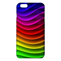 Spectrum Rainbow Background Surface Stripes Texture Waves Iphone 6 Plus/6s Plus Tpu Case by Simbadda