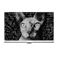 Sphynx Cat Business Card Holders by Valentinaart