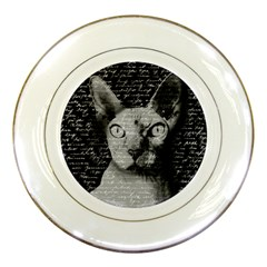 Sphynx Cat Porcelain Plates by Valentinaart