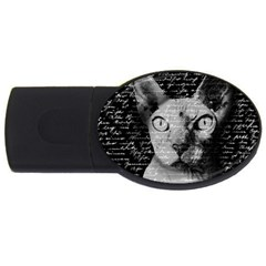 Sphynx Cat Usb Flash Drive Oval (4 Gb)
