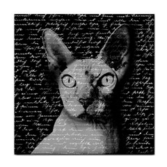 Sphynx Cat Face Towel by Valentinaart