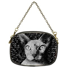Sphynx Cat Chain Purses (two Sides)  by Valentinaart
