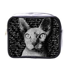 Sphynx Cat Mini Toiletries Bags by Valentinaart