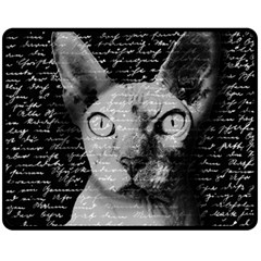 Sphynx Cat Fleece Blanket (medium)  by Valentinaart
