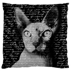 Sphynx Cat Large Cushion Case (two Sides) by Valentinaart
