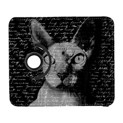 Sphynx Cat Galaxy S3 (flip/folio) by Valentinaart