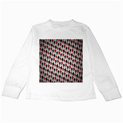 Suit Spades Hearts Clubs Diamonds Background Texture Kids Long Sleeve T Shirts by Simbadda