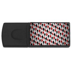 Suit Spades Hearts Clubs Diamonds Background Texture Usb Flash Drive Rectangular (4 Gb) by Simbadda