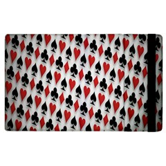 Suit Spades Hearts Clubs Diamonds Background Texture Apple Ipad 3/4 Flip Case by Simbadda