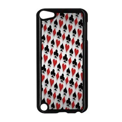 Suit Spades Hearts Clubs Diamonds Background Texture Apple Ipod Touch 5 Case (black) by Simbadda