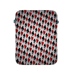 Suit Spades Hearts Clubs Diamonds Background Texture Apple Ipad 2/3/4 Protective Soft Cases by Simbadda