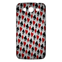 Suit Spades Hearts Clubs Diamonds Background Texture Samsung Galaxy Mega 5 8 I9152 Hardshell Case  by Simbadda