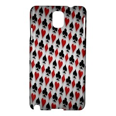 Suit Spades Hearts Clubs Diamonds Background Texture Samsung Galaxy Note 3 N9005 Hardshell Case by Simbadda