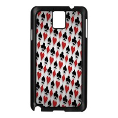 Suit Spades Hearts Clubs Diamonds Background Texture Samsung Galaxy Note 3 N9005 Case (black)