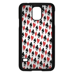 Suit Spades Hearts Clubs Diamonds Background Texture Samsung Galaxy S5 Case (black) by Simbadda