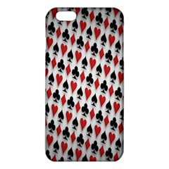 Suit Spades Hearts Clubs Diamonds Background Texture Iphone 6 Plus/6s Plus Tpu Case by Simbadda