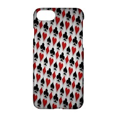 Suit Spades Hearts Clubs Diamonds Background Texture Apple Iphone 7 Hardshell Case
