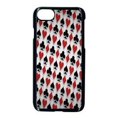 Suit Spades Hearts Clubs Diamonds Background Texture Apple Iphone 7 Seamless Case (black) by Simbadda