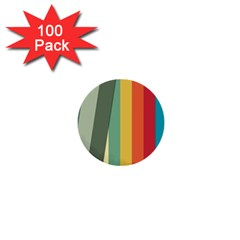 Texture Stripes Lines Color Bright 1  Mini Buttons (100 Pack)  by Simbadda