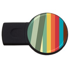 Texture Stripes Lines Color Bright Usb Flash Drive Round (4 Gb) by Simbadda