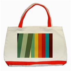 Texture Stripes Lines Color Bright Classic Tote Bag (red) by Simbadda