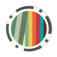 Texture Stripes Lines Color Bright Poker Chip Card Guard by Simbadda