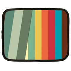 Texture Stripes Lines Color Bright Netbook Case (xl)  by Simbadda