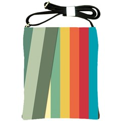 Texture Stripes Lines Color Bright Shoulder Sling Bags by Simbadda