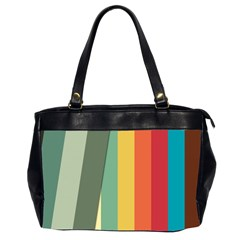 Texture Stripes Lines Color Bright Office Handbags (2 Sides)  by Simbadda
