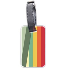 Texture Stripes Lines Color Bright Luggage Tags (one Side)  by Simbadda