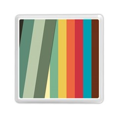 Texture Stripes Lines Color Bright Memory Card Reader (square)  by Simbadda