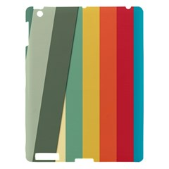 Texture Stripes Lines Color Bright Apple Ipad 3/4 Hardshell Case by Simbadda