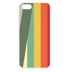 Texture Stripes Lines Color Bright Apple Iphone 5 Seamless Case (white) by Simbadda