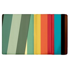 Texture Stripes Lines Color Bright Apple Ipad 2 Flip Case by Simbadda