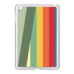 Texture Stripes Lines Color Bright Apple Ipad Mini Case (white) by Simbadda