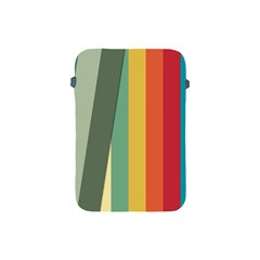 Texture Stripes Lines Color Bright Apple Ipad Mini Protective Soft Cases by Simbadda