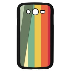 Texture Stripes Lines Color Bright Samsung Galaxy Grand Duos I9082 Case (black)
