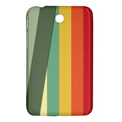 Texture Stripes Lines Color Bright Samsung Galaxy Tab 3 (7 ) P3200 Hardshell Case  by Simbadda