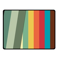 Texture Stripes Lines Color Bright Double Sided Fleece Blanket (small)  by Simbadda