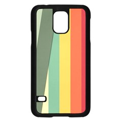 Texture Stripes Lines Color Bright Samsung Galaxy S5 Case (black) by Simbadda