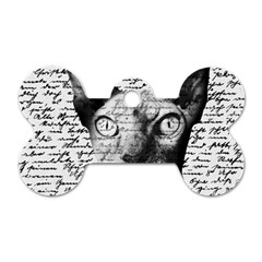 Sphynx Cat Dog Tag Bone (two Sides) by Valentinaart