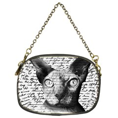 Sphynx Cat Chain Purses (one Side)  by Valentinaart