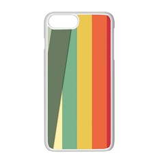 Texture Stripes Lines Color Bright Apple Iphone 7 Plus White Seamless Case by Simbadda