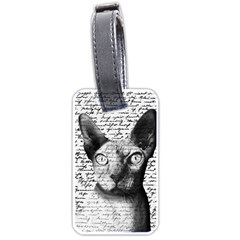 Sphynx Cat Luggage Tags (one Side)  by Valentinaart